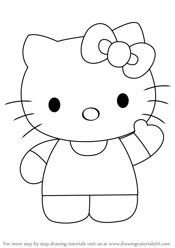 learn how to draw hello kitty hello kitty step by step drawing tutorials