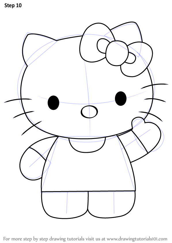 Learn How To Draw Hello Kitty Hello Kitty Step By Step