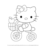 How to Draw Hello Kitty on Tricycle