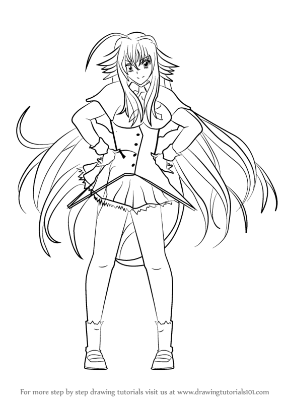 Learn How to Draw Rias Gremory from High School DxD High School