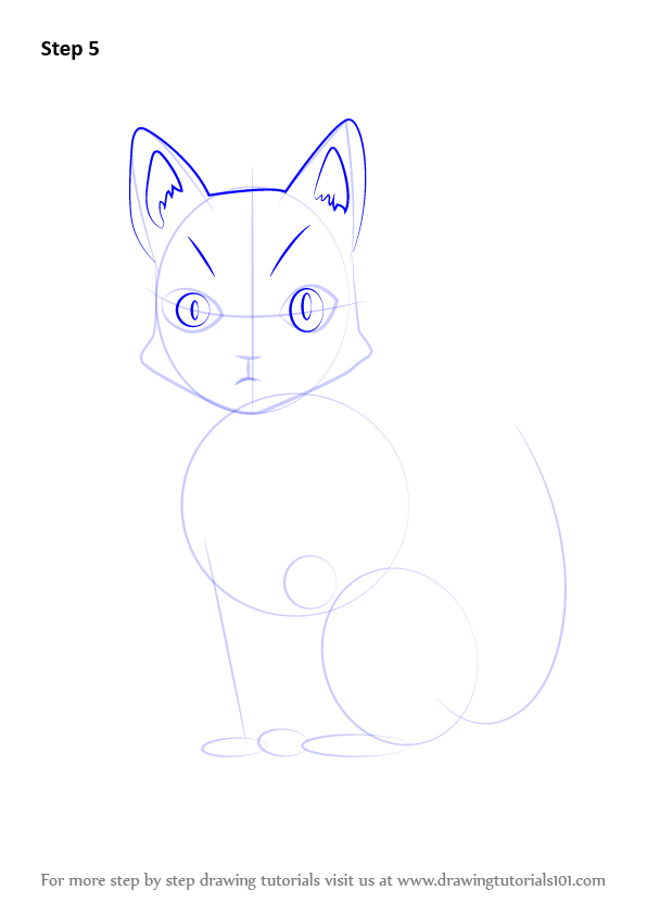 how to draw anime cats step by step