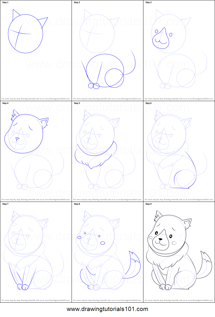 How To Draw Plum Wolf From Holy Knight Printable Step By Step Drawing