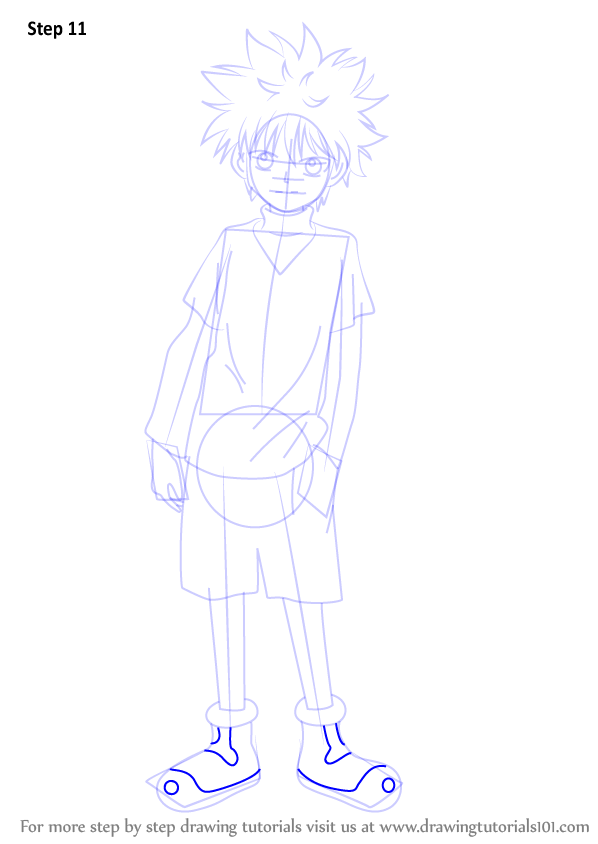 Step By Step How To Draw Killua Zoldyck From Hunter X