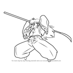 How to Draw Angry Hakudoshi from Inuyasha