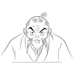 How to Draw Grandpa Higurashi from Inuyasha