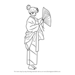 How to Draw Kagura from Inuyasha