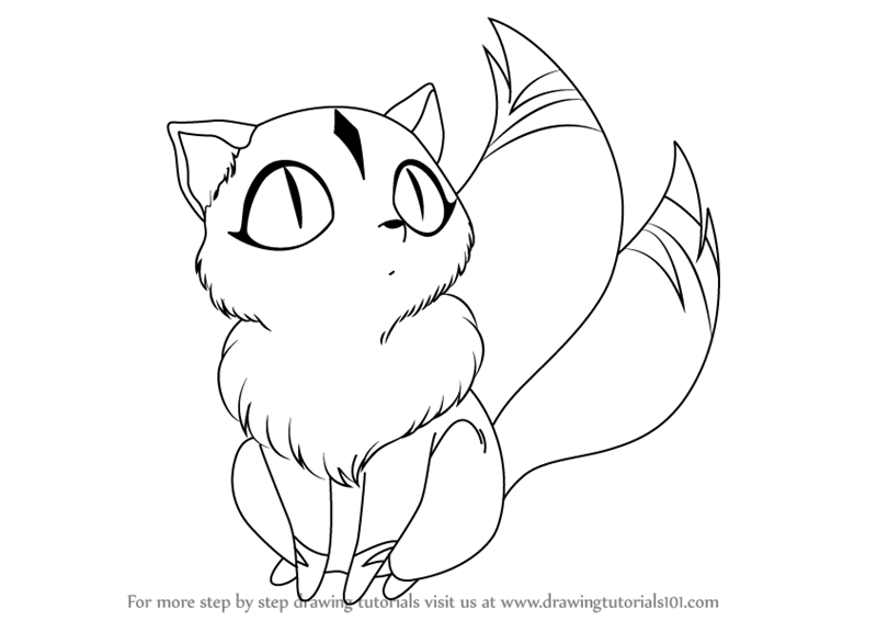 Learn How To Draw Kirara From Inuyasha Inuyasha Step By