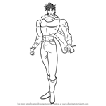 How to Draw Joseph Joestar from JoJo's Bizarre Adventure