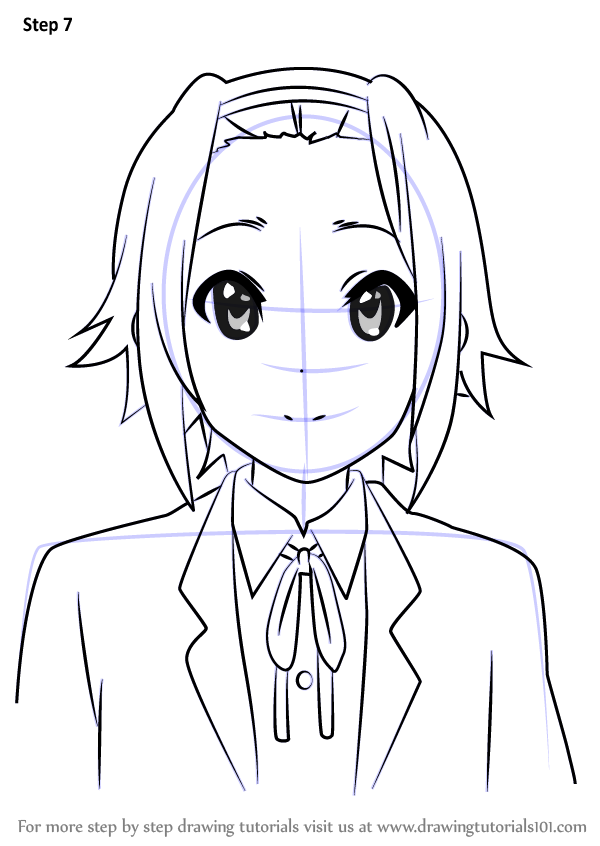 Learn How To Draw Ritsu Tainaka From K On K On Step