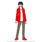 How to Draw Shintaro Kisaragi from Kagerou Project