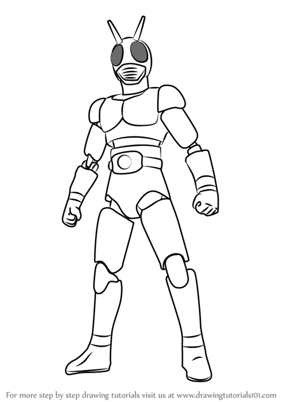 Learn How to Draw Kamen Rider Kamen
