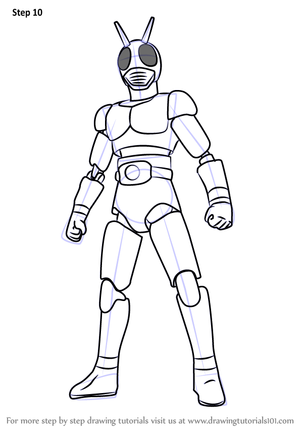 Learn How To Draw Kamen Rider Kamen Rider Step By Step