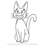 How to Draw Jiji from Kiki's Delivery Service