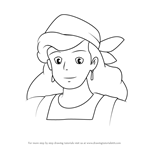 How to Draw Kokiri from Kiki's Delivery Service