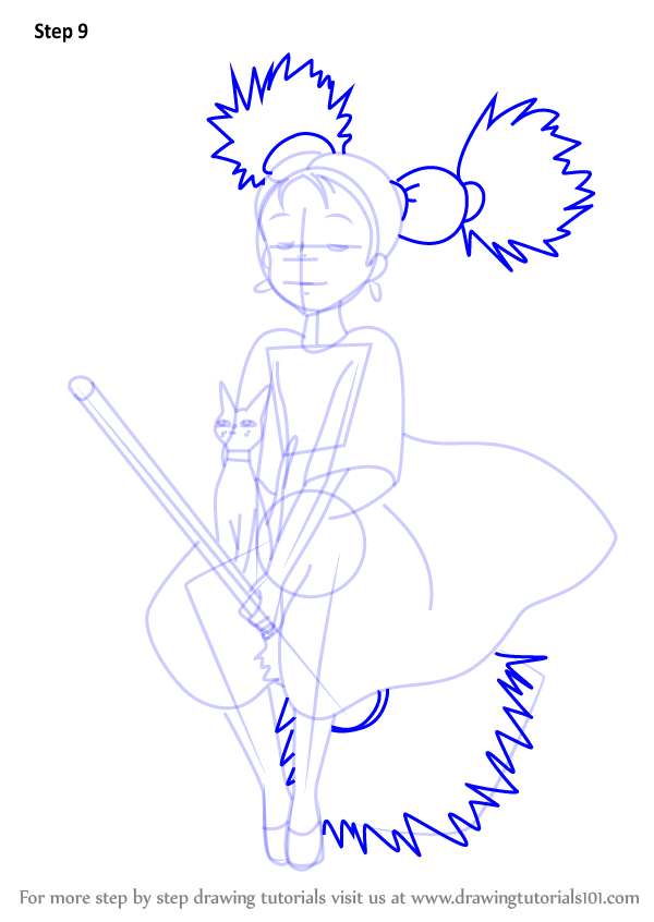 Learn how to draw senior witch from kiki 39 s delivery for Kiki s delivery service coloring pages