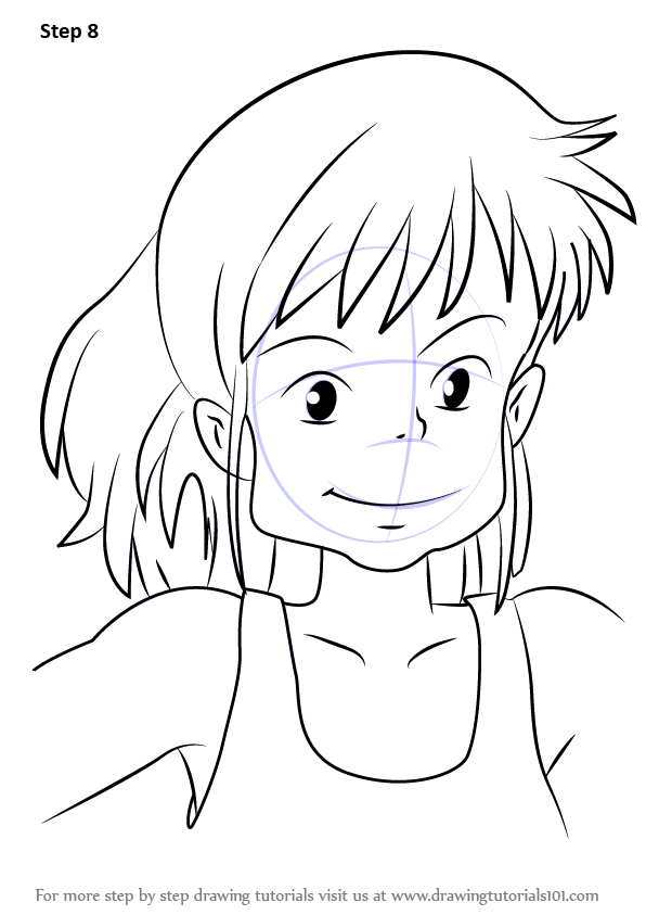Step by step how to draw ursula from kiki 39 s delivery for Kiki s delivery service coloring pages
