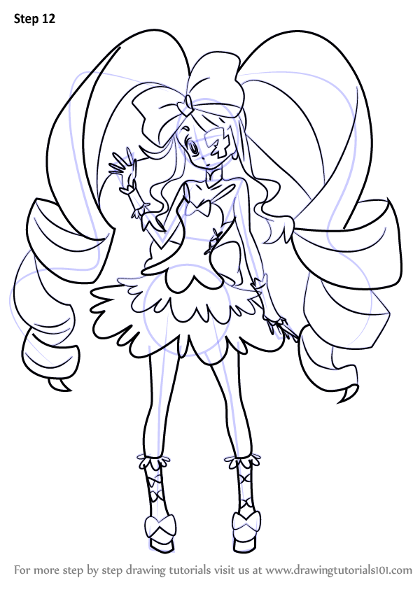 step by step how to draw nui harime from kill la kill