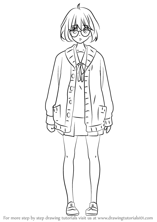step by step how to draw mirai kuriyama from kyoukai no
