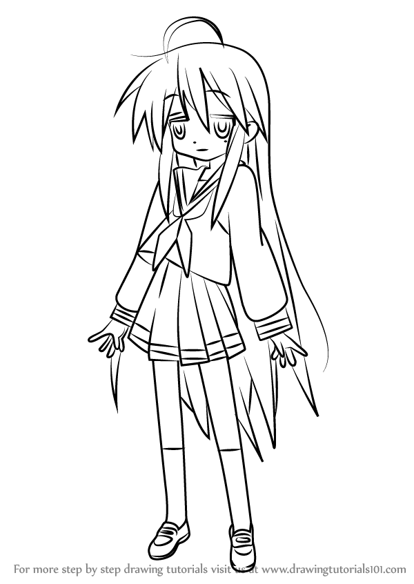 Learn How to Draw Konata Izumi