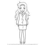 How to Draw Marina Koizumi from Lucky Star