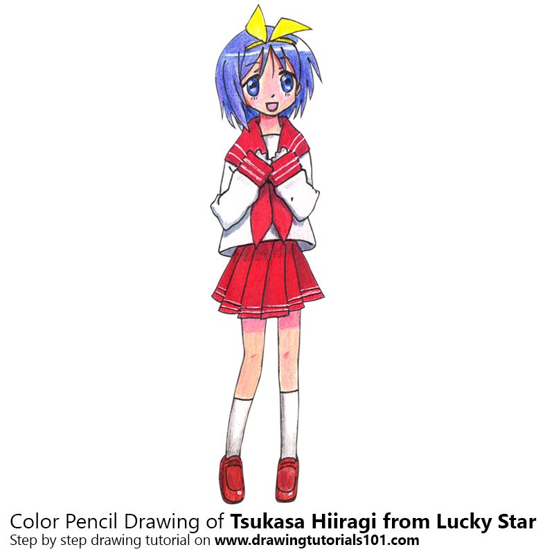 Tsukasa Hiiragi from Lucky Star Colored Pencils - Drawing ...