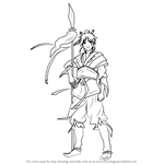 How to Draw Hakuryuu Ren from Magi