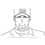 How to Draw Joe Gibson from Major
