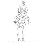 How to Draw Hansode Shiranui from Medaka Box