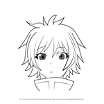 How to Draw Kaishi Yame from Medaka Box