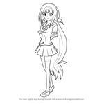 How to Draw Najimi Ajimu from Medaka Box