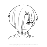 How to Draw Tsushima Sanou from Medaka Box