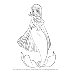 How to Draw Coco in Mermaid from Mermaid Melody