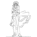 How to Draw Gaito from Mermaid Melody