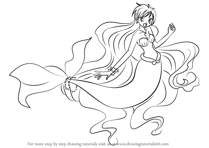 Mermaid Melody coloring pages printable games | 566x800