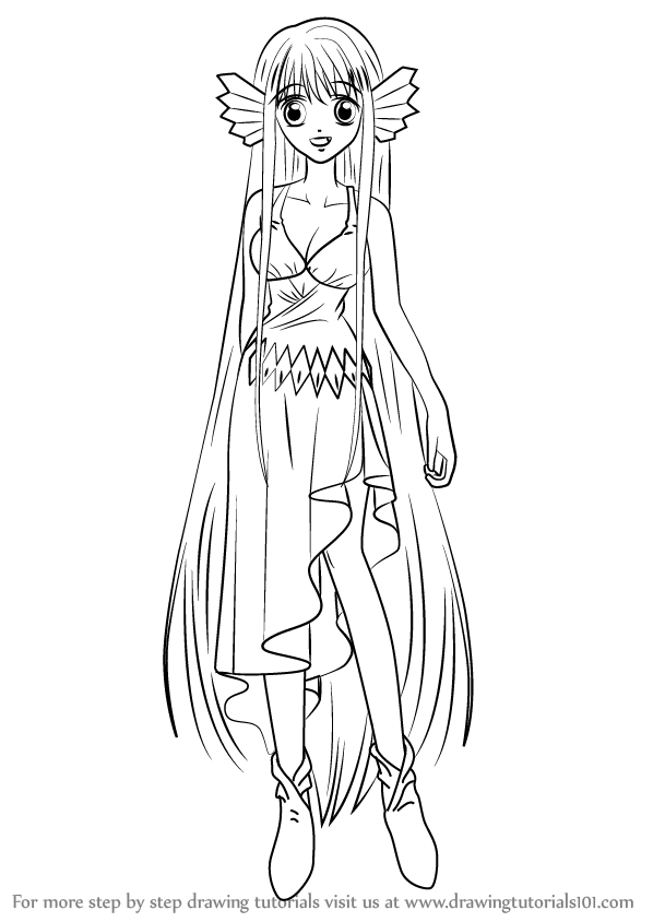 How to draw maria from mermaid melody