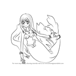 How to Draw Rina in Mermaid from Mermaid Melody