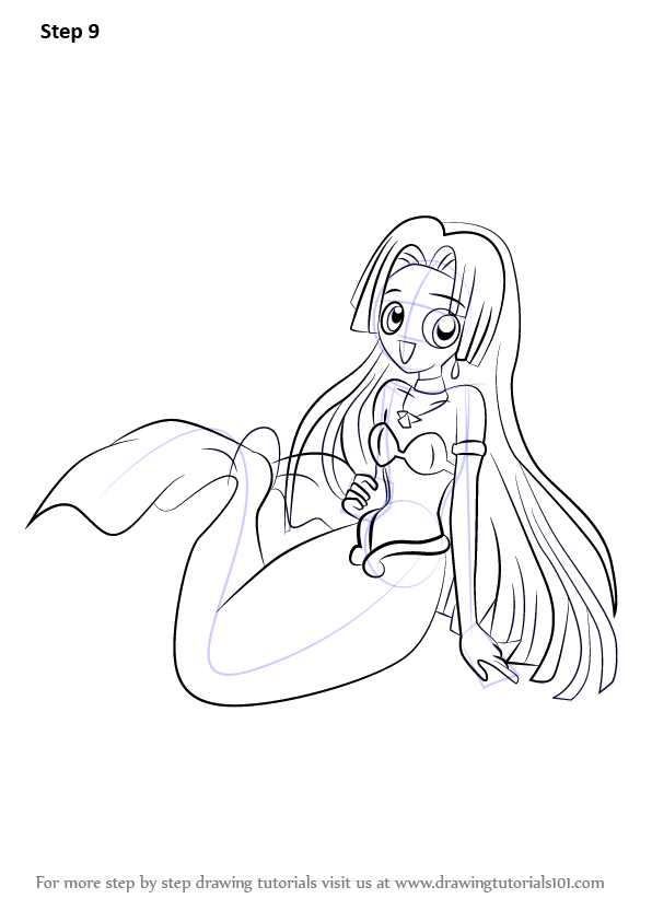 Learn How To Draw Seira In Mermaid From Mermaid Melody