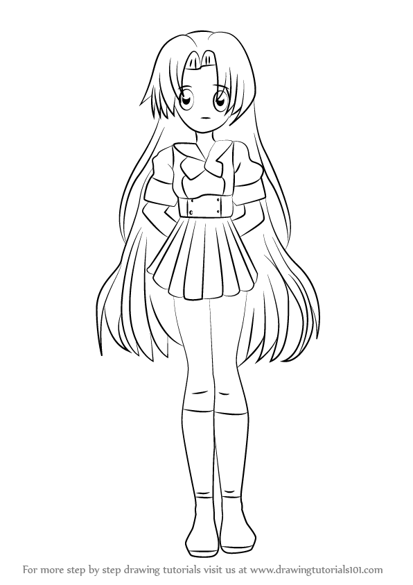 Learn How to Draw Seira from Mermaid Melody (Mermaid Melody