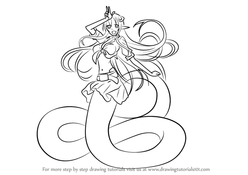 Learn How to Draw Miia from Monster Musume Monster Musume