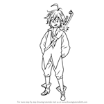 How to Draw Meliodas from Nanatsu no Taizai