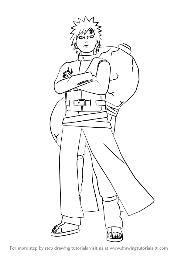 Learn How to Draw Gaara from Naruto