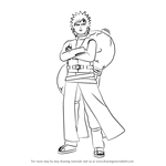 How to Draw Gaara from Naruto