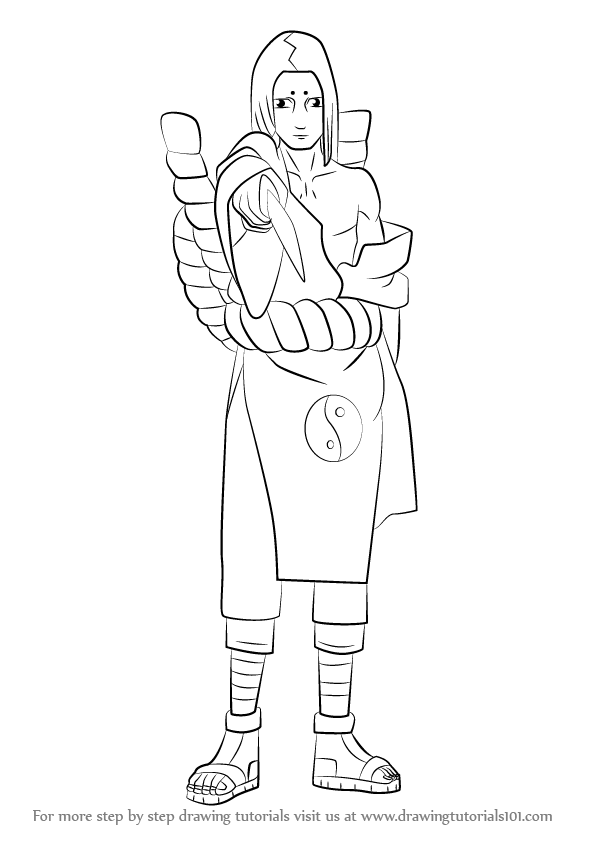 Learn How To Draw Kimimaro From Naruto Naruto Step By