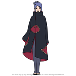 How to Draw Konan from Naruto