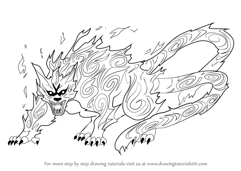 learn how to draw matatabi from naruto naruto step by