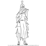 How to Draw Mei Terumi from Naruto