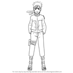 how to draw kakashi hatake face step by step