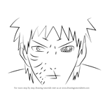 How to Draw Obito Uchiha Face from Naruto