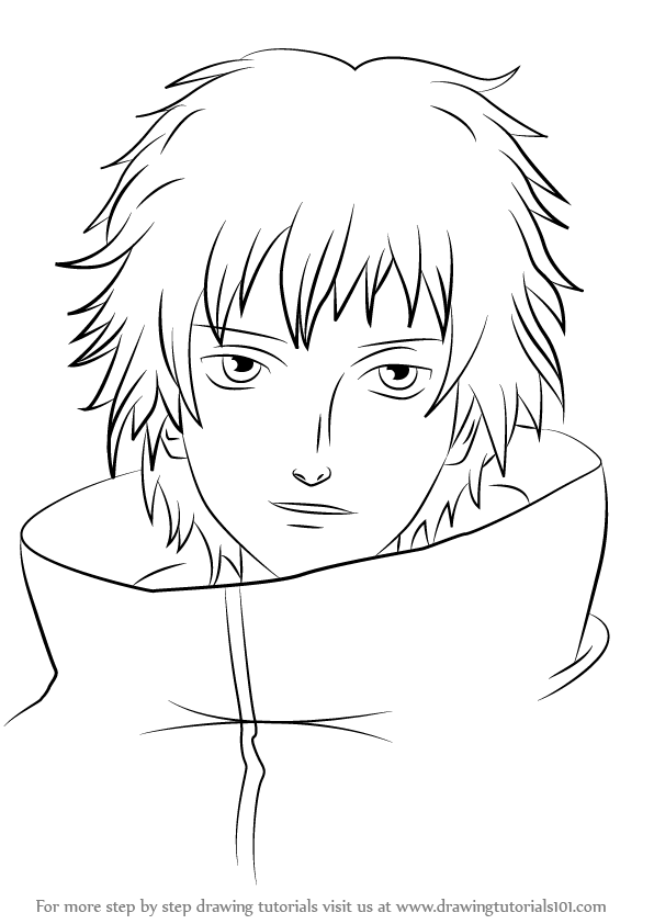Learn How To Draw Sasori From Naruto Naruto Step By Step
