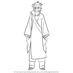 How to Draw Toneri Otsutsuki from Naruto